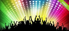 Free Disco Party Backgrounds for Photoshop