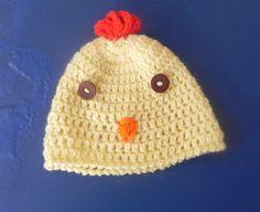 Cappellino galletto giallino in lana