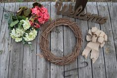 This DIY wreath for fall was easy and simple to put together. It's the perfect colors to spruce up any door during the fall months.