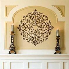 dining room ceiling DIY Decor Ideas using Intricate and Exotic Home Decor - Moroccan Ceiling Medallion Stencils - Royal Design Studio