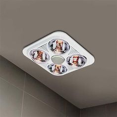 Waco 4 Light Ceiling Mount Bathroom Heater Bathroom Heater, Ceiling Lights, Outdoor Ceiling Lights, Ceiling Fixtures, Ceiling Lighting