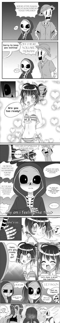 Frisk's Swimsuit (Comic) by Vani-Wa