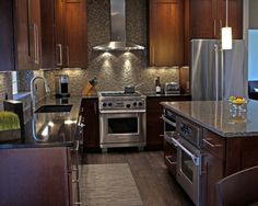 Love cabinets and backsplash