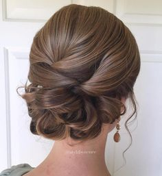Formal Sleek Low Looped Updo