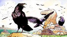 Interactive Stories, Image C, Nests, Ravens, Unity, Drinking, Rocks, Spirit, Raven