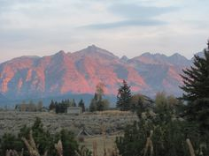 sunrise on the Tetons from the comfort of the Montagnes deck, taken by Kathy O'Day