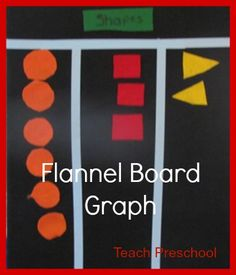 Shapes on the Flannel Board Graph by Teach Preschool