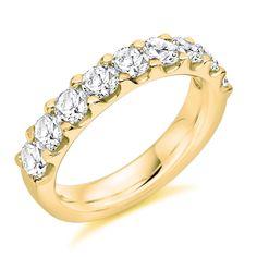 Micro-Claw Set 1.50ct Round Brilliant Cut Diamond Half Eternity Ring   Reppin & Jones Jewellers