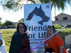 Posing with the Friends for Life Animal Rescue (a no kill animal shelter) coordinator at the G.A.I.N. event at Dodge Park in Gilbert