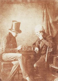 Published: The Chessplayers ca. 1843 Salted paper print