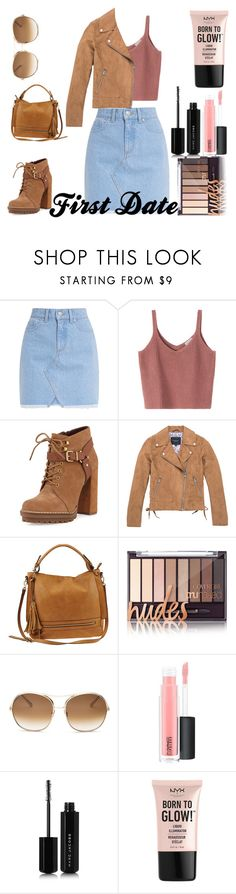 """First Date Casual"" by artyblue06 ❤ liked on Polyvore featuring BCBGeneration, Marc New York, Urban Expressions, Chloé, MAC Cosmetics, Marc Jacobs and NYX"