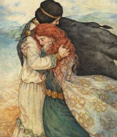 "Tristan & Iseult   ""Ni moi sans vous, ni vous sans moi.""  (""Neither me without you, nor you without me."")"