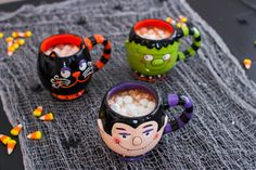 If you're serving hot cocoa or apple cider this Halloween, serve it with some adorably spooky friends.
