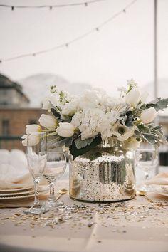 Great mix of celebratory glitter and winter white