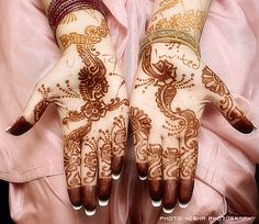 Mendhi invitation for Pakistani wedding.