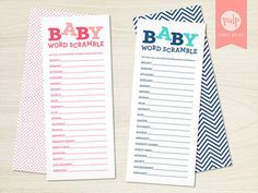 Word Scramble   30 Baby Shower Games That Are Actually Fun