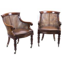 Pair Of Regency Style Caned Library Bergere Armchairs ($3,301) ❤ liked on Polyvore featuring home, furniture, chairs, accent chairs, armchairs, brown, patterned chair, polish furniture, patterned accent chairs and brown's furniture