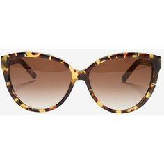Chloe Caspia Oversized Cat Eye Sunglasses: Tortoise