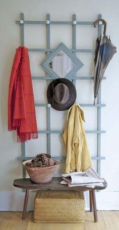 Trellis coat rack
