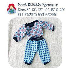 pyjamas Doll Clothes Patterns, Clothing Patterns, Pyjamas, Tutorials, Velvet, Pajama, Teaching