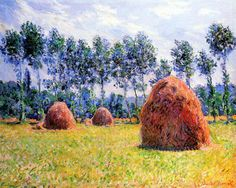 Claude Monet (1840-1926) - Haystacks at Giverny  - 1884 - Private collection
