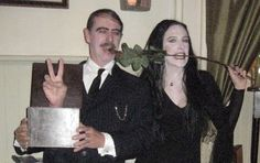 """OK. The only thing I really want to mention about the Morticia Addams dress is the """"Fun Stix"""". Fun Stix are just a Wal-Mart name for 12 inc..."""