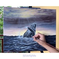 I hope you will enjoy this step by step acrylic painting tutorial for all levels. In this painting tutorial, we will focus on painting a whale in th. Acrylic Painting For Beginners, Acrylic Painting Techniques, Step By Step Painting, Beginner Painting, Painting Videos, Acrylic Painting Canvas, Watercolor Paintings, Painting Steps, Drawing Step