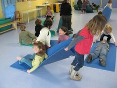 dragging a friend on a mat or blanket for deep pressure calming (for the dragger) Social Skills Activities, Gross Motor Activities, Sensory Activities, Educational Activities, Physical Activities, Activities For Kids, Sensory Diet, Sensory Issues, Games 4 Kids