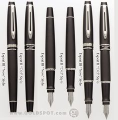 Comparison of the Waterman Expert II & Expert III Models. Waterman Fountain Pen, Waterman Pens, Blog Writing, Writing Instruments, Ballpoint Pen, Fountain Pens, Stationary, Models, Style