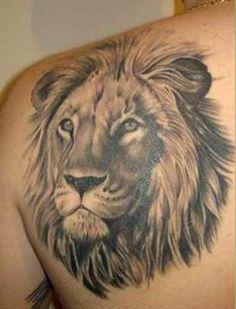 Tatuagens de Leão: na Coxa, no Braço, nas Costas