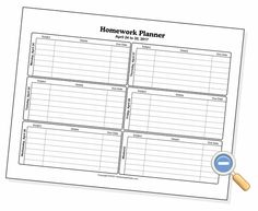This is a free weekly homework sheet template to help keep