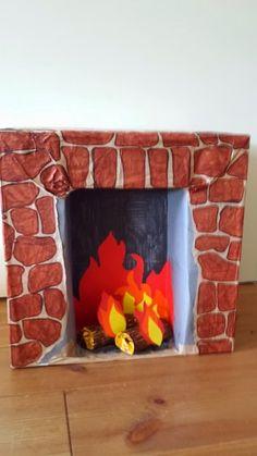 Cardboard Fireplace, Diy Fireplace, Saint Nicolas, Christmas Crafts For Kids, Something To Do, Saints, December, Childhood, Frame
