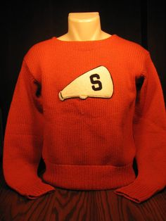 Preppy Vintage Syracuse University Cheerleader Varsity Letterman Sweater #PreppySyracuse