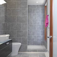 No Door Tiled Showers Design Ideas, Pictures, Remodel, and Decor