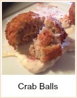 The list of ingredients for this crab balls recipe seems a little long, but believe me - it's well worth going to the trouble.  You'll need to separate the egg yolks from the whites - get all your ingredients sorted onto plates prior to starting and the process should just roll along.  Use a vegetable oil for cooking - a wok is a good idea as you'll need only a small amount - just use enough to cover the balls whilst they're cooking.