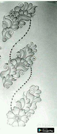 Floral Henna Designs, Henna Tattoo Designs Simple, Back Hand Mehndi Designs, Full Hand Mehndi Designs, Mehndi Designs 2018, Mehndi Designs Book, Mehndi Design Pictures, Mehndi Designs For Girls, Mehndi Designs For Beginners