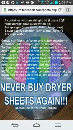 Homemade Dryer Sheets