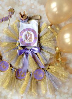 Half Birthday Girl Party Box - First Birthday Smash Cake - Tutu Matching Outfit - Party Decoration Set - Full Photo Prop Smash Cake Decor