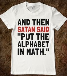 Algebra - Text First - Skreened T-shirts, Organic Shirts, Hoodies, Kids Tees, Baby One-Pieces and Tote Bags