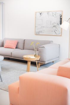 soft tones, comfy couch, peachy pink, billy buttons x