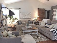 Living room setup, new living room, cozy living rooms, living r Living Room Setup, Living Room Sectional, Cozy Living Rooms, New Living Room, Palm Springs, Boho Home, Family Room Design, Shabby, Small Apartments