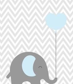 Baby Room Art, Kids Room Art, Baby Art, Baby Room Decor, Baby Shower Balloons, Baby Shower Games, Baby Boy Shower, Designer Baby, Cute Elephant Drawing