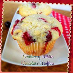 Cranberry-White Chocolate Muffins