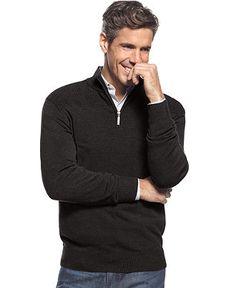 Geoffrey Beene Sweater, Ribbed Yoke Sweater - Mens Sweaters - Macy's
