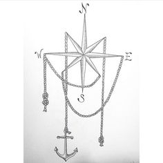 Ideas for tattoo sleeve designs drawings anchors Nautical Compass Tattoo, Compass Art, Compass Drawing, Sleeve Tattoos For Women, Tattoo Sleeve Designs, Trendy Tattoos, Unique Tattoos, Anchor Drawings, Gear Tattoo