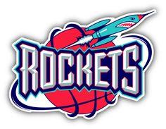 Houston Rockets NBA Basketball Sport Logo Car Bumper Sticker Decal 5 x 4