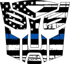 Thin blue line decal - Transformer Autobot Blue Line Decal in many sizes in eBay Motors, Parts & Accessories, Car & Truck Parts | eBay