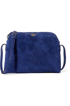 The Row - Multi Pouch Suede Shoulder Bag - Navy