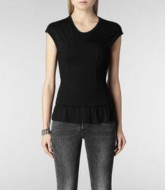 Womens Atle Top (Black) | ALLSAINTS.com