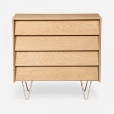 Shop Modernica's bedroom essentials for the best in modern and mid century furniture including beds, bedside tables, and dressers. Dresser Plans, 4 Drawer Dresser, Bedroom Dressers, Baltic Birch Plywood, Mid Century Furniture, Storage Drawers, Baby Room, Nyc, Smooth